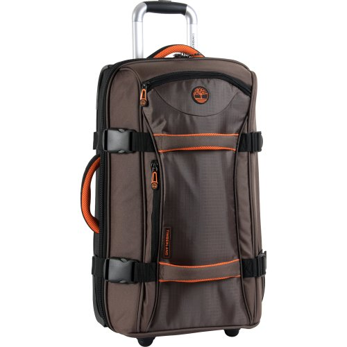 Timberland Luggage Twin Mountain 22 Inch Wheeled Duffle, Cocoa, One Size (Wheeled Bag 22)