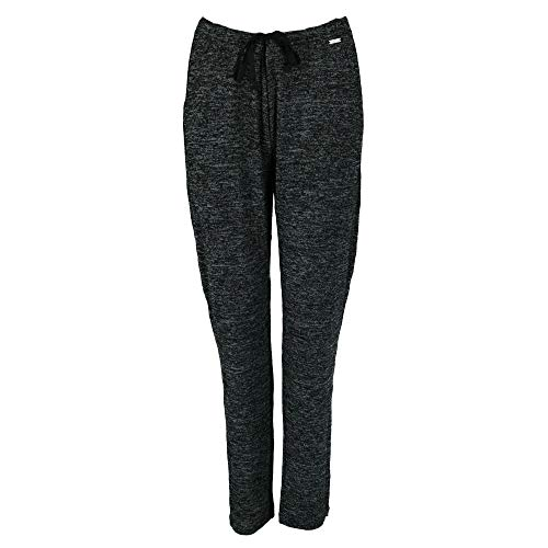 Hello Mello Carefree Threads Womens Loungewear Pants With Pockets and Adjustable Elastic Waistband, Matching Drawstring Bag- Black Small 4-6
