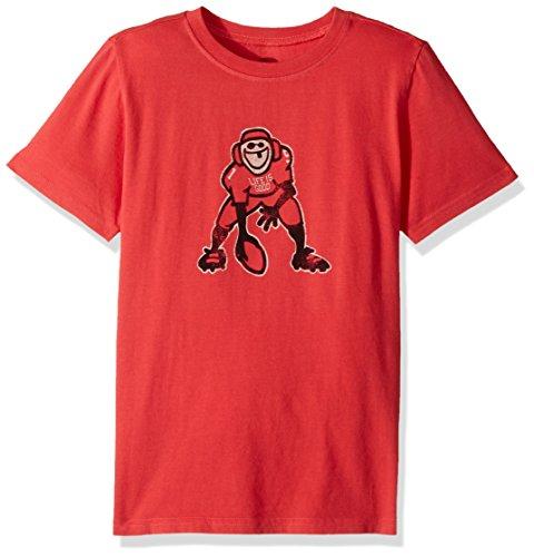 Life is Good Boy's B Ss Boys Tee Hut Hike Amrred T-Shirt, Americana Red, Large