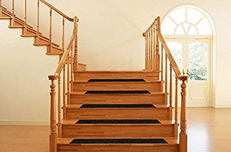 Anti Slip Grip Tape Tread Step Black High Traction Grit Non Slip Pad Strong Adhesive Safety Track Tape for Stairs Outdoors and Indoors 4 inch, black