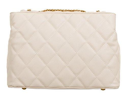 Women's Party Evening KT657 Clutch Pink Ladies Quilted Shoulder Bag Handbag Faux Leather gOqOX6