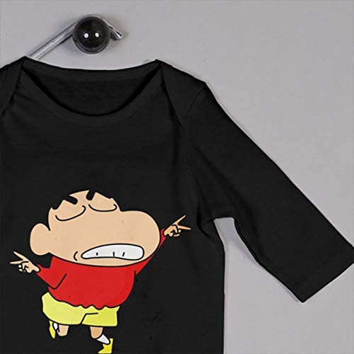GongCZL Design Crayon Shinchan White T-Shirt for Kids Black