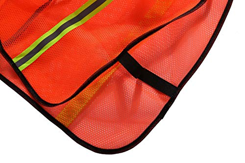 SIFE High Visibility Reflective Safety Vest with 1 Inch Reflective Strips,Made from Breathable and Neon Orange Mesh Fabric,Universal Size,10 pack by SIFE (Image #5)