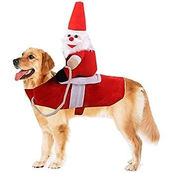 Amazon.com: Yu-Xiang Disfraz de Papá Noel para montar en ...