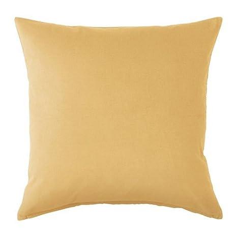 Ikea sanela almohada color amarillo claro 50 x 50 cm: Amazon ...