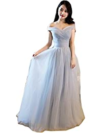 MILANO BRIDE Romantic Evening Dress Wedding Party Gown V-neck Off-the-Shoulder