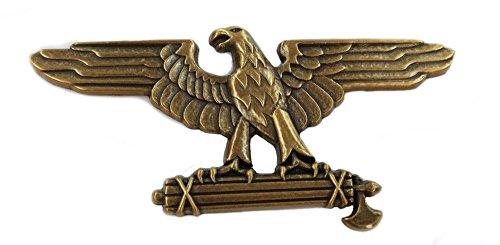 Roman Eagle/Rome SPQR Standard/War WW2 Italian Pin/Broach (Gold) (Eagle Flag Nazi)