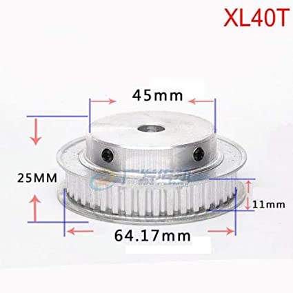 XL 16T Timing Belt Pulley Synchronous Wheel 5.08mm Pitch 10mm Bore For 10mm Width Belt XL16T, Bore:10mm