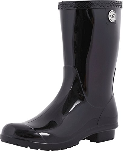 UGG Women's Sienna Rain Boot, Black, 8 B US