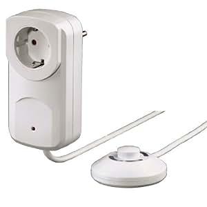 Xavac - Adaptador para enchufe con interruptor de pie