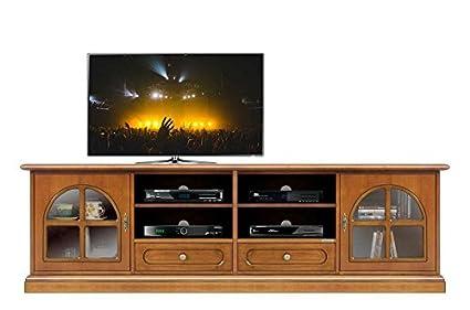 Porta Tv In Stile Classico.Mobile Porta Tv Da Salotto In Stile Classico Con Ante In Vetro