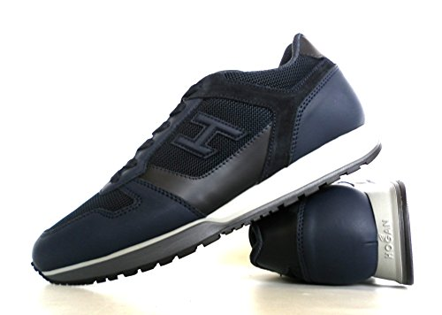 Hogan scarpe uomo H321 mod. allacciato H 3D (no etich) HXM3210Y850HIF9AZC blu