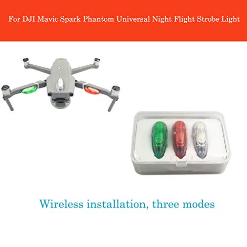 LED Flash Strobe Lights,Night Flight for DJI Mavic 2 PRO / DJI Mavic 2 Zoom / DJI Mavic PRO / DJI Mavic Air / DJI Spark / DJI Phantom 3 Series / DJI Phantom 4 Series / DJI Inspire 2 (White)
