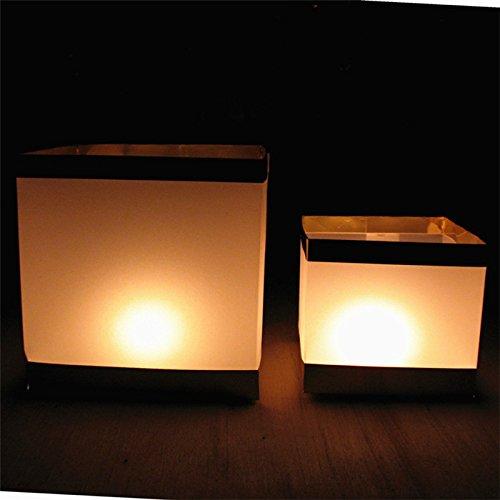 Bluelover 10Pcs eau flottante bougie titulaire /étanche bougeoir lanterne souhaitant chandelier lumi/ère 15x15cm