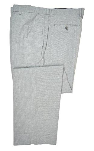 Banana Republic Men's Standard Fit Linen Blend Trousers Pants Light Grey 31W X 32L