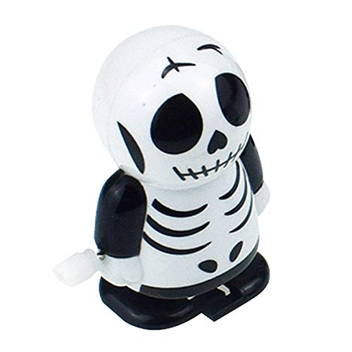 Halloween Clockwork Gift Wind Up Mummy Ghost Bounce Toy Educational -