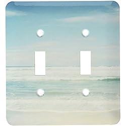 3dRose lsp_164479_2 Gentle Ocean Waves Beach Theme Art Light Switch Cover