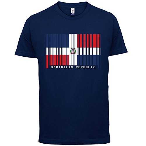 Dominican Republic / Dominikanischen Republik Barcode Flagge - Herren T-Shirt - Navy - XS