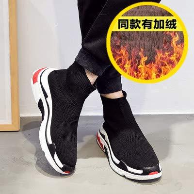 HCBYJ Chaussures élastiques Automne Stretch Chaussures, Chaussettes Respirantes tissées Volantes, Chaussures de Sport décontractées, Chaussures Chaudes et Confortables