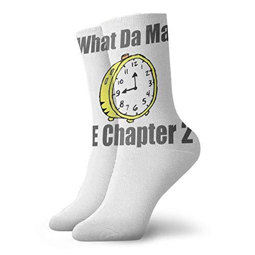 YUANSHAN Socks What Da Math Time Chapter 2 Women & Men Socks Soccer Sock Sport Tube Stockings Length 11.8Inch ()