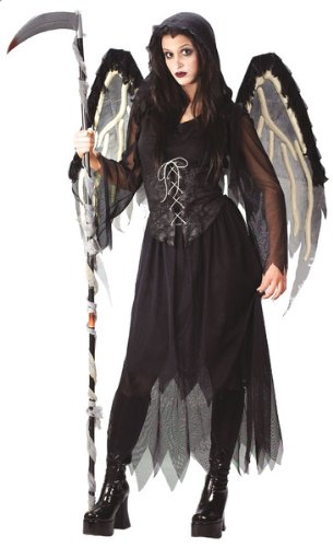 Angel Halloween Costumes For Tweens (Gothic Angel of Death Costume Teen)