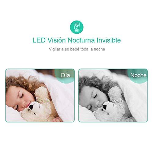 Ghb Vigilabebes Inalambrico Bebe Monitor Inteligente Con Lcd 32 Pulgadas Y Camara Vision Nocturna