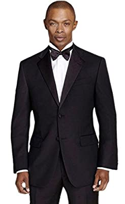 Calvin Klein Men's Black Slim Fit Tuxedo