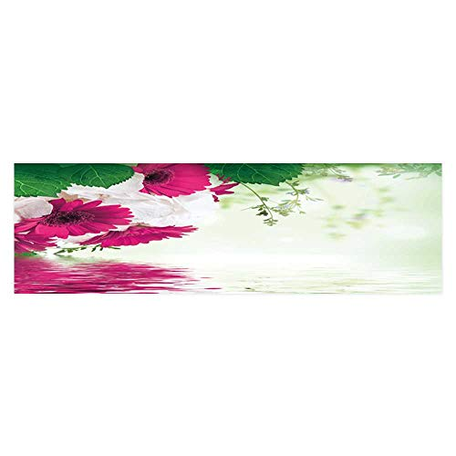 Gerbera Balloons Daisy (Dragonhome Fish Tank Poster Aquarium Background Backdrop PVC Adhesive Multi Colored Gerbera Daisies on a White Background Sticker Wallpaper Fish Tank L29.5 x H21.6)