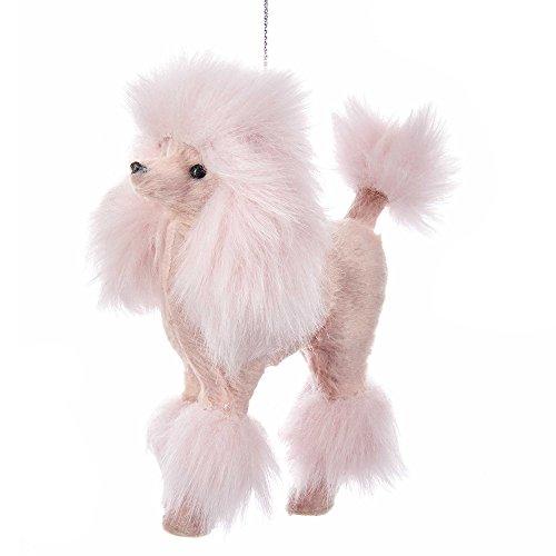 Kurt Adler 5-Inch Furry Pink Poodle Ornament