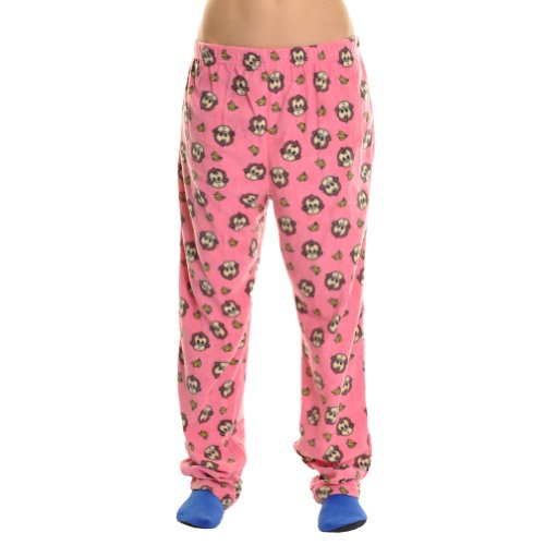 Angelina Cozy Fleece Pajama Pants, 93122 Monkey_XL