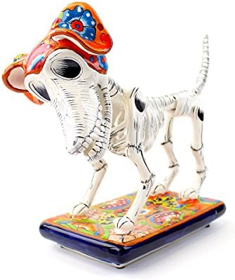 5bc62680e Amazon.com: Day of the Dead Dog | Large sculpture: Home & Kitchen