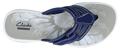 Clarks Womens Brinkley Athol Comfort Casual Sandals Navy 6zrs3blO5v