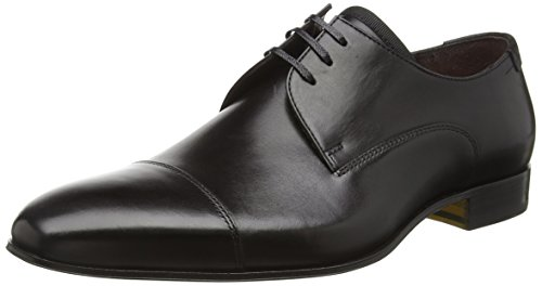 Floris van Bommel 14192/03, Zapatos de Cordones Derby para Hombre Negro (Nvy/dk Gry 8f7)