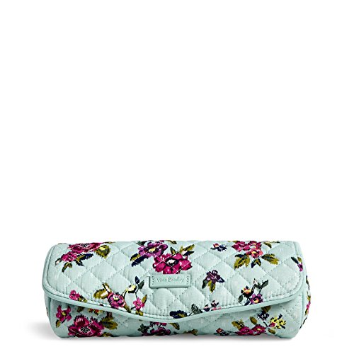 Eyeliner Case Pack - Vera Bradley Iconic On a Roll Case, Signature Cotton, Water Bouquet