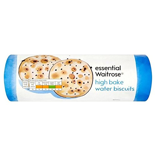 High Bake Water Biscuits essential Waitrose 200g