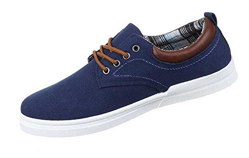 Herren-Schuhe Schnürschuhe | moderne Halbschuhe mit Schnürung in verschiedenen Farben und Größen | Schuhcity24 | Freizeitschuhe mit brauner Schnürung Blau