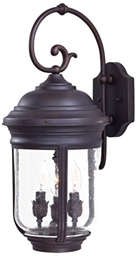 Minka Lavery Minka 8811-57 Traditional Three Light Wall Mount from Amherst collection in Bronze/Darkfinish 3 Outdoor, Upc-747396620213
