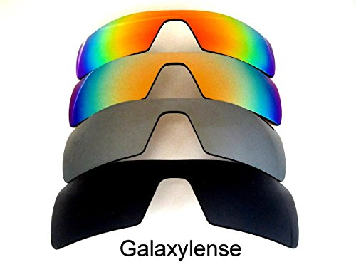 Galaxy Replacement Lenses for Oakley Oil Rig Black&Gray&Gold&Red Color Sunglasses 4 Pairs Polorized,FREE - Free Replacement Sunglasses