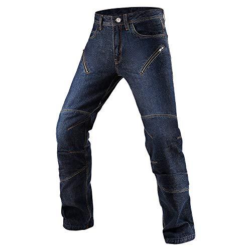 INBIKE Motorradhose herren Motorrad JeansMotorradbekleidung Schutzkleidung Motorradjeans Hose mit Protektoren L