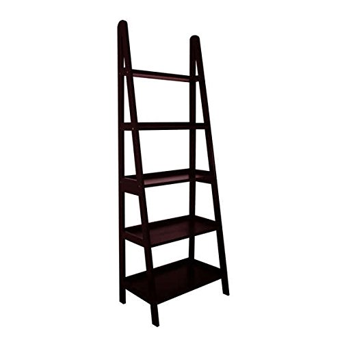 UPC 857628003261, Mintra 5-Tier A-Frame Ladder Shelf, 25 by 15 by 71-Inch, Walnut Finish