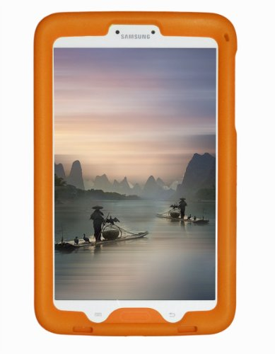 Bobj Rugged Case for Samsung Galaxy Tab 3 8-inch screen size Tablet, Models SM-T310, SM-T311, SM-T315 - BobjGear Custom Fit - Patented Venting - Sound Amplification - Kid Friendly (Outrageous Orange)