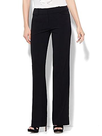 New York & Co. 7Th Avenue Pant - Bootcut - Signature - 0 Black (Petite Office Pants)