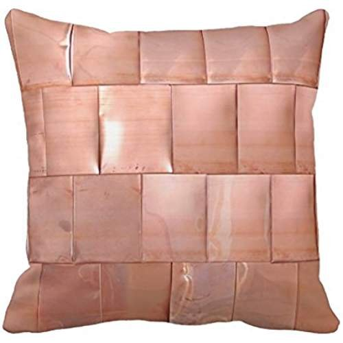 Copper Plate Map (Copper Plates Throw Pillow Case)