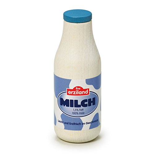 (Erzi Pretend Play Wooden Grocery Shop Merchandize Milk, 4 x 11.1cm, Bottle)