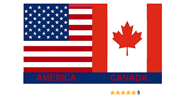 2x3 Foot Usa Canada 2ft X 3ft American Canadian Flag Outdoor Flags Sports Outdoors Amazon Com