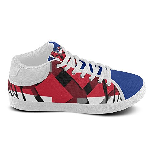 Interestprint La Bandiera Del Regno Unito Chukka Sneakers Donna Scarpe Di Tela