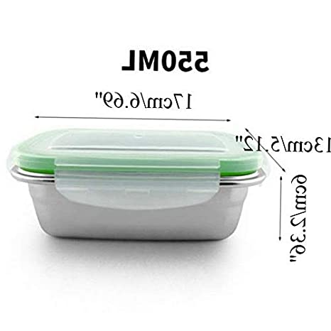 704486ef5e84 Amazon.com: Mikash Leak Proof Food Storage Container Stainless Steel ...