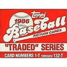 Topps Barry Bonds Traded 1986 - Barry Bonds Rookie 1st card w/ Complete 1986 Brand New Topps Traded Set