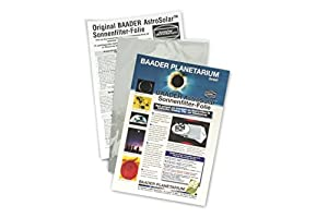 "Baader Planetarium AstroSolar Safety Film Visual, 7.9x11.4"" (20x29cm)"