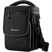 Powerextra Small Portable Shoulder Bag for DJI Spark Mini Quadcopter Drone, DJI Mavic Pro Quadcopter And DSLR Camera - Black